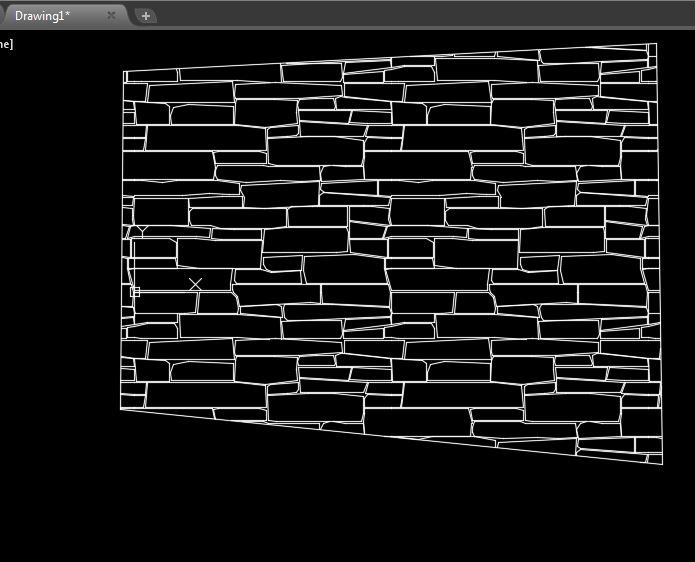 Stone Wall Elevation Cad : Adding new hatch patterns