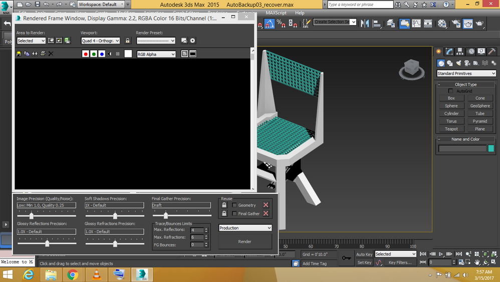 Solved: 3ds max rendering problem - a black blank window - Autodesk