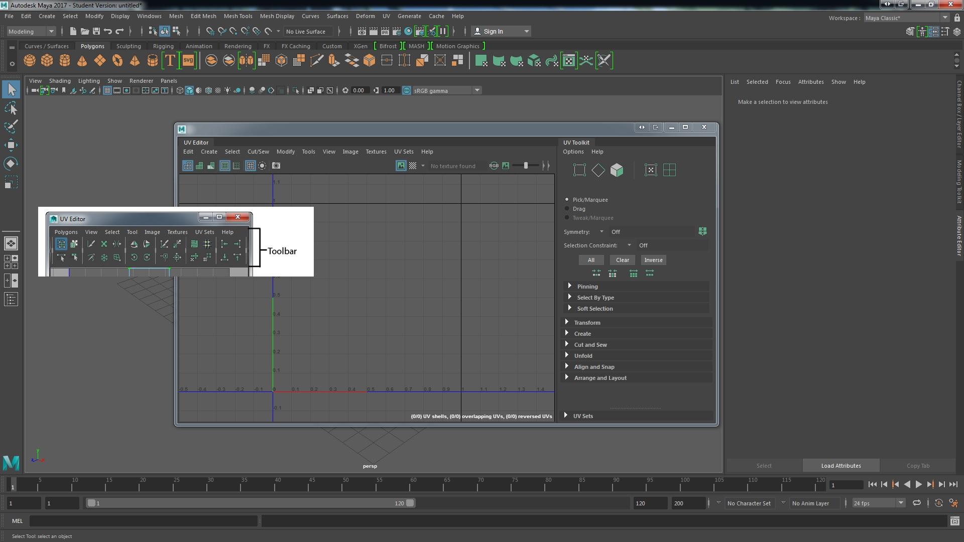 Solved: How to get UV Editor Toolbar back - Autodesk Community- Maya