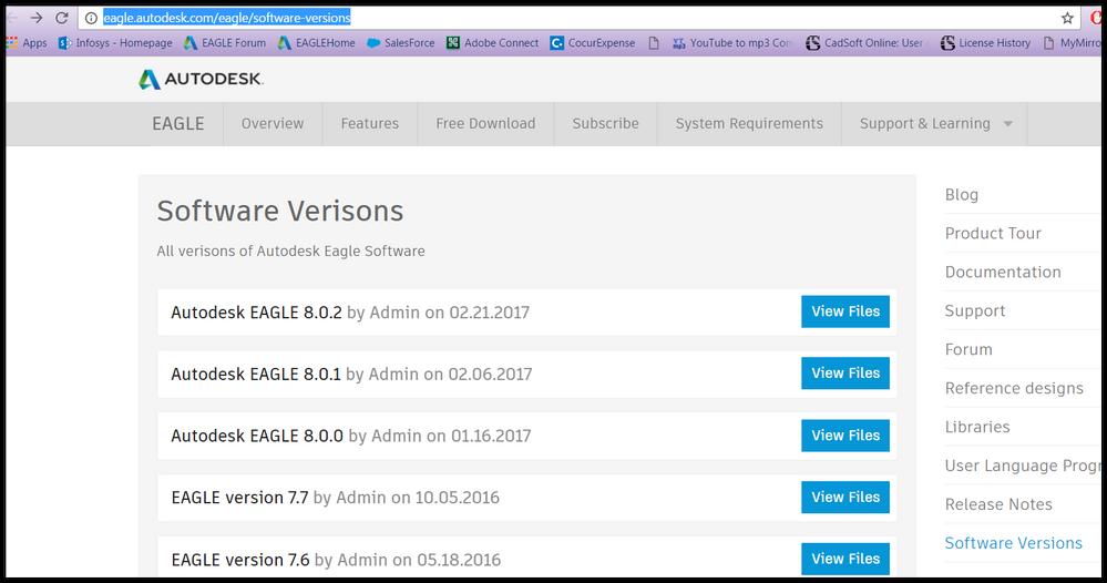 Download Earlier Versions of EAGLE - Autodesk Community- EAGLE