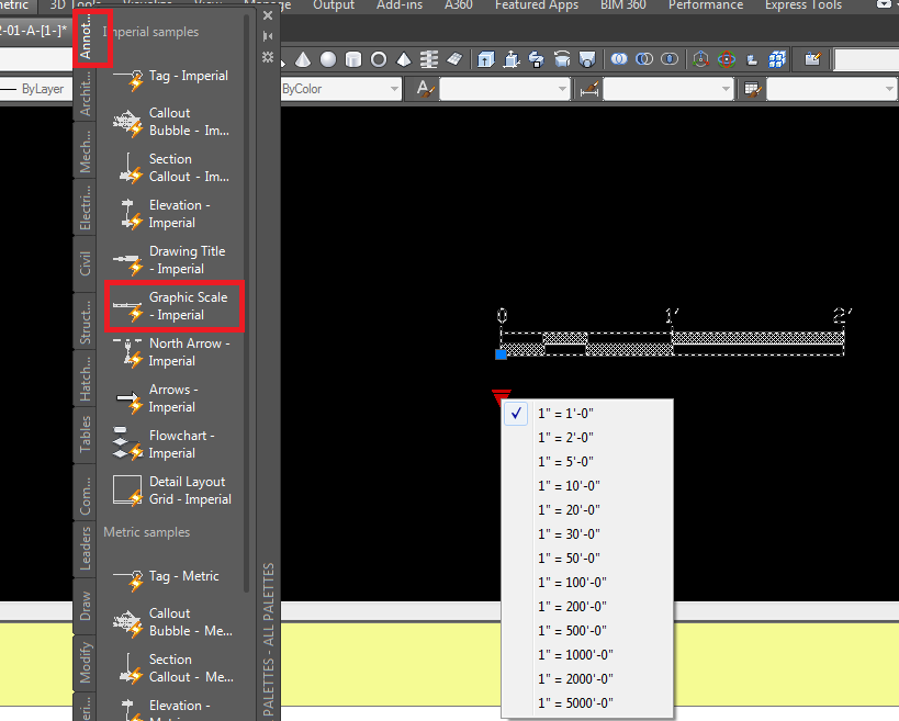 how to set the scale of a drawing in autocad