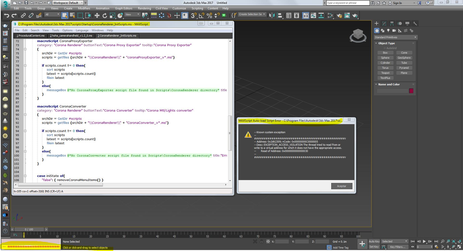 Solved: MaxScript Auto-load Script Error - CoronaRenderer