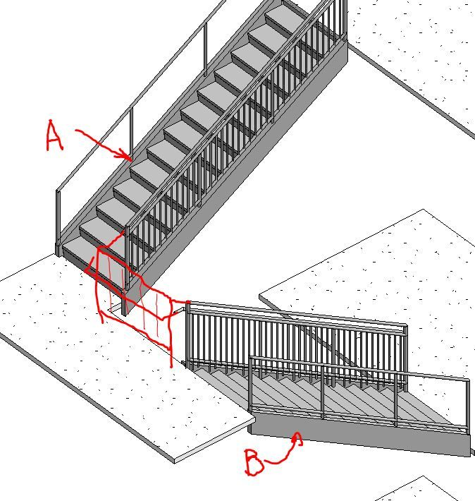 Solved: Joining Rails From Separate Stairs