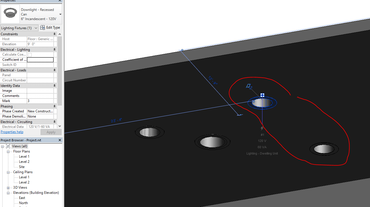 Solved recessed in concrete lighting fixture opening autodesk community revit products