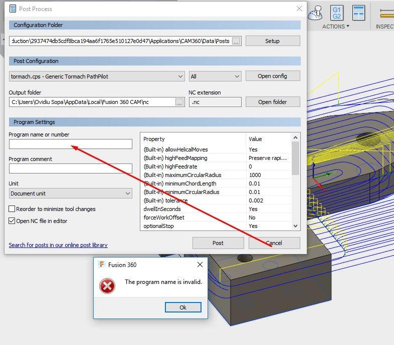 Post processor for Tormach PCNC error at