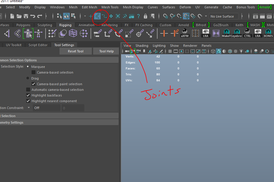 Solved: selecting/seeing joints through model - Autodesk Community- Maya