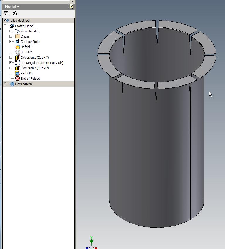 Adding Flange To Cylinder In Sheet Metal Design Using