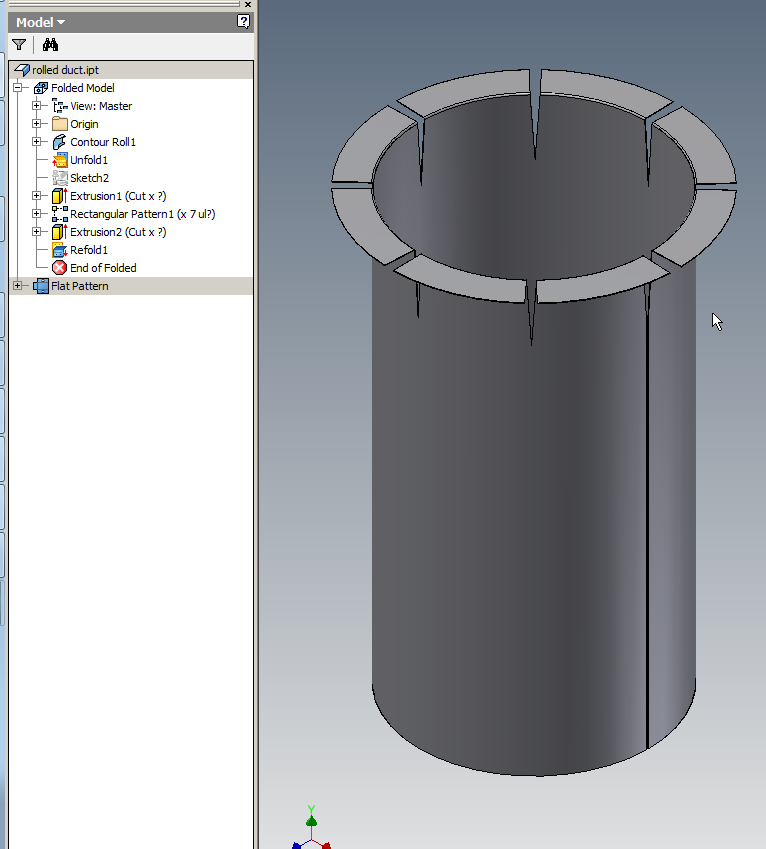 Adding Flange To Cylinder In Sheet Metal Design Using