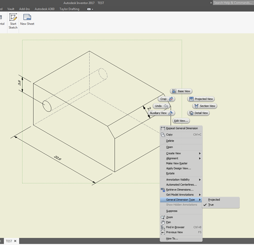 how to change dimension text size in inventor 2017