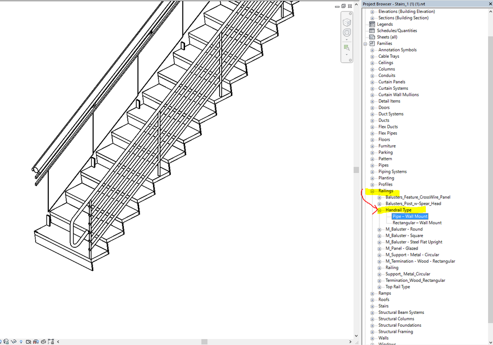 solved  edit distance from handrails to top rail and clarification of type property