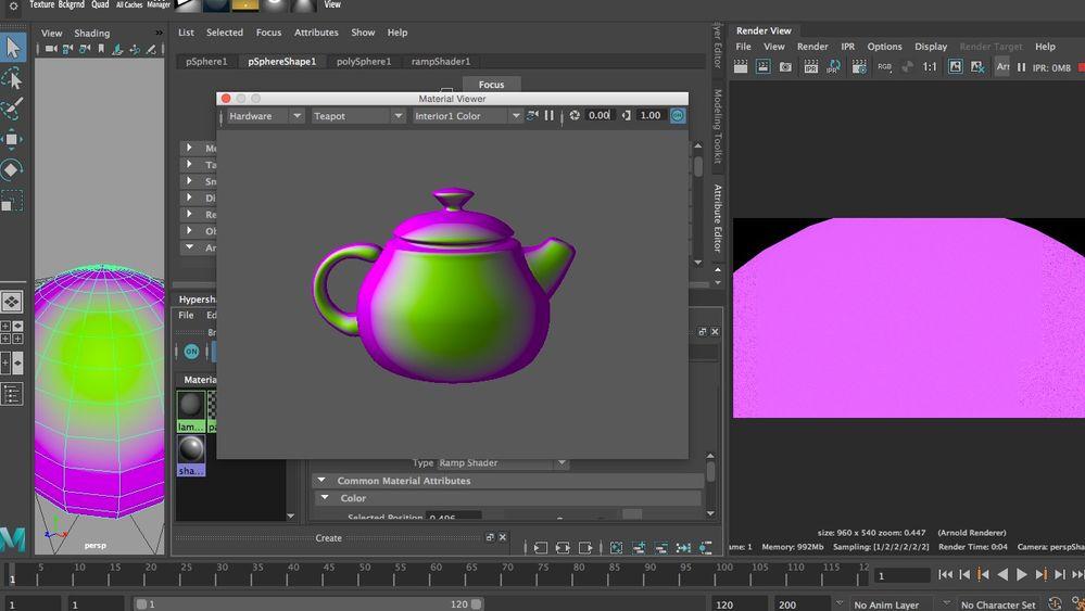 Solved: Ramp shader not rendering in Arnold - Autodesk Community- Maya
