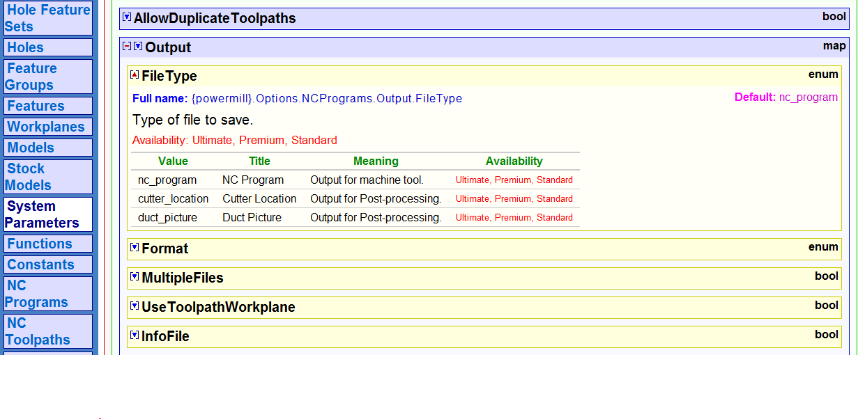 Display Filetype In An Exprssion Field Ncprogram Cutter Location