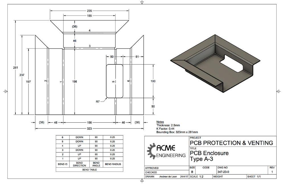 Sheet metal bend table autodesk community for Table sheet design