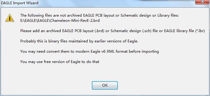 Solved: How to convert eagle file to eagle v6 XML