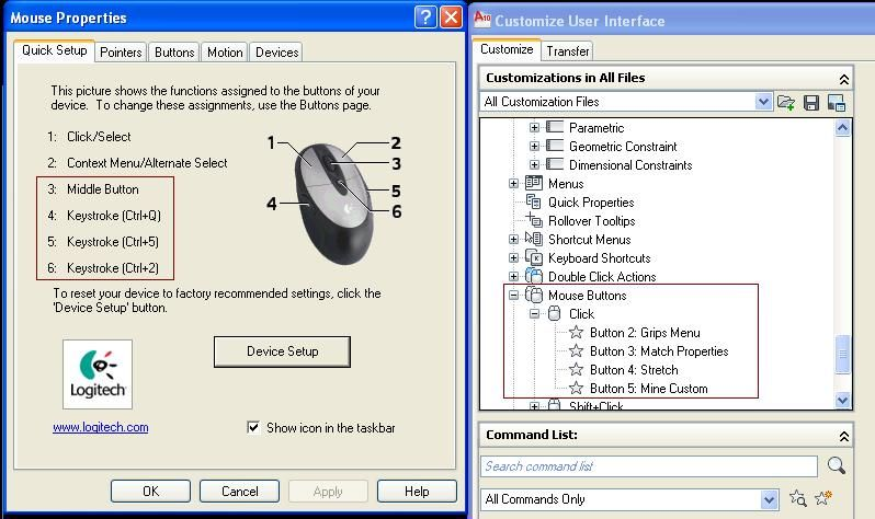 Solved: AutoCAD 2010 - 5 button mouse ISSUES - Autodesk