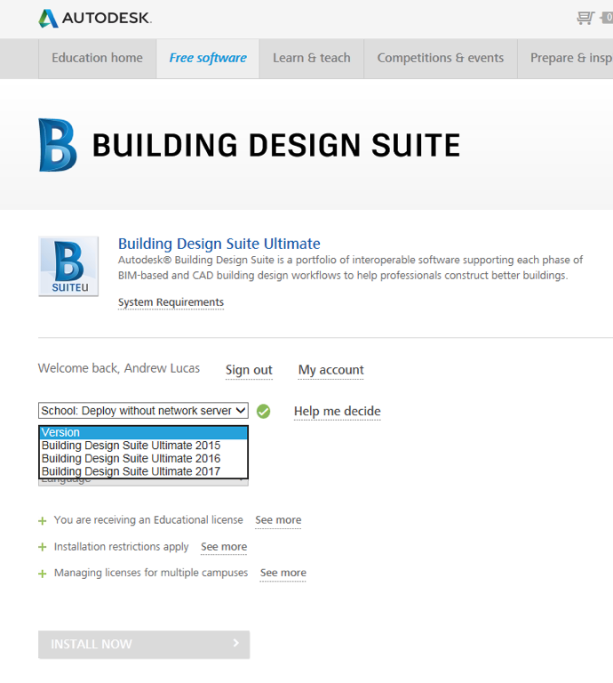 Where to buy Autodesk Building Design Suite Ultimate 2017