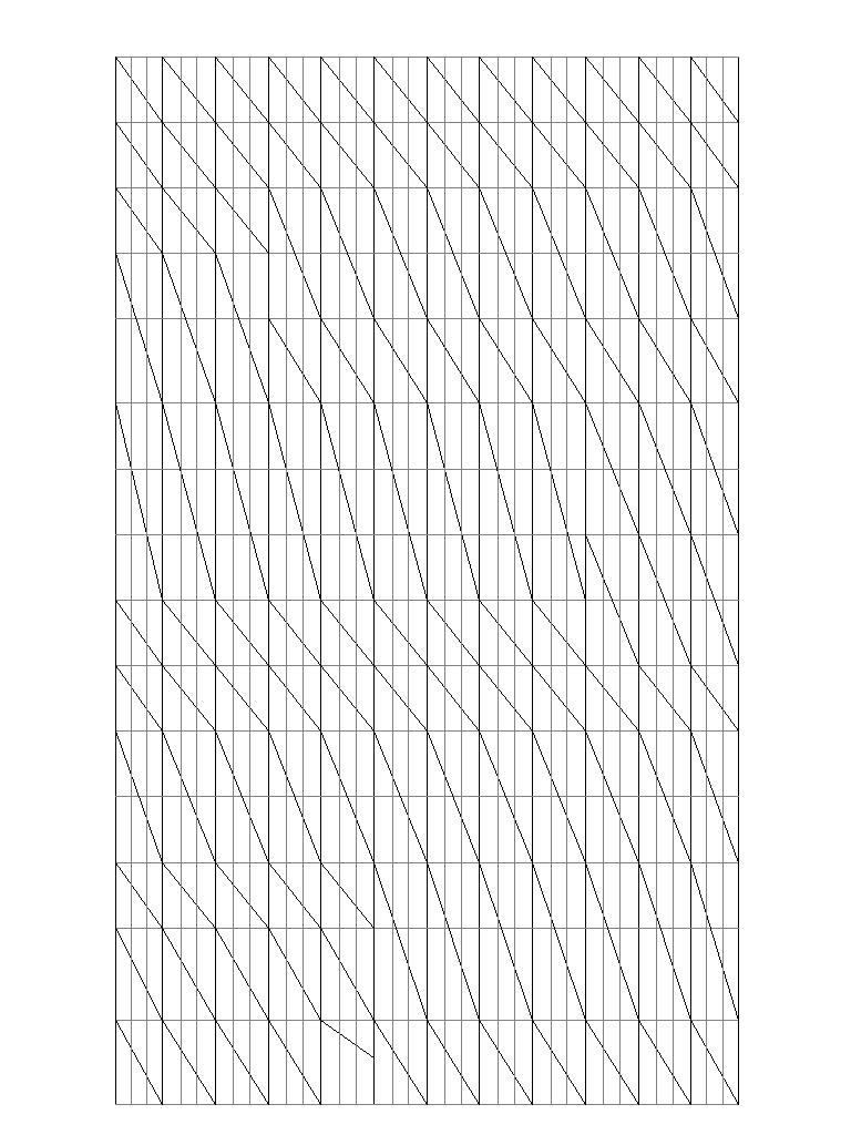 How to create a curtain wall with irregular grid pattern
