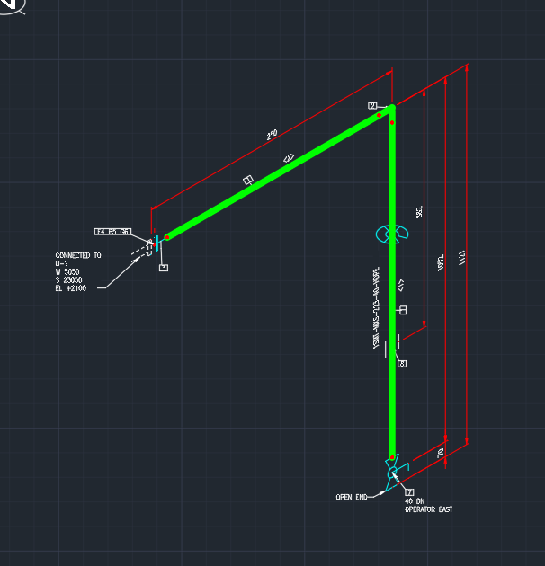 Solved: Missing Flow Arrow Symbol in Isometric Drawing P3D