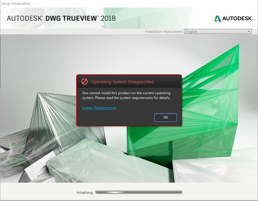 Solved: Installing Trueview 2018 in Windows 10 32bit