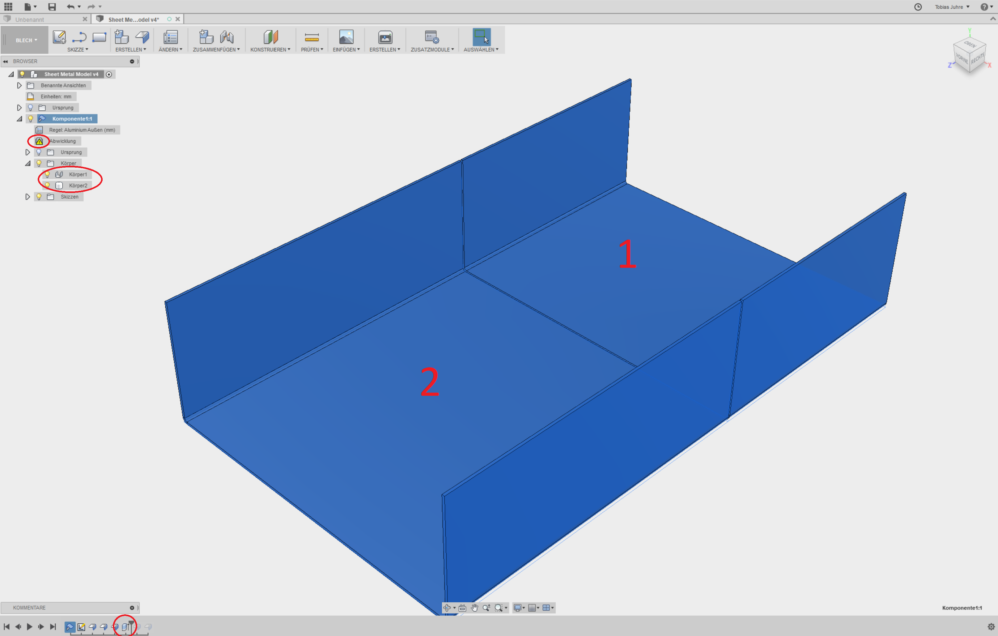 Solved Sheet Metal Extrusion Multiple Parts Autodesk