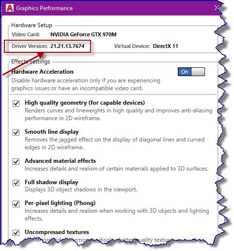 Nvidia GeForce GTX 960 _ AutoCAD 2018 - Autodesk Community- AutoCAD