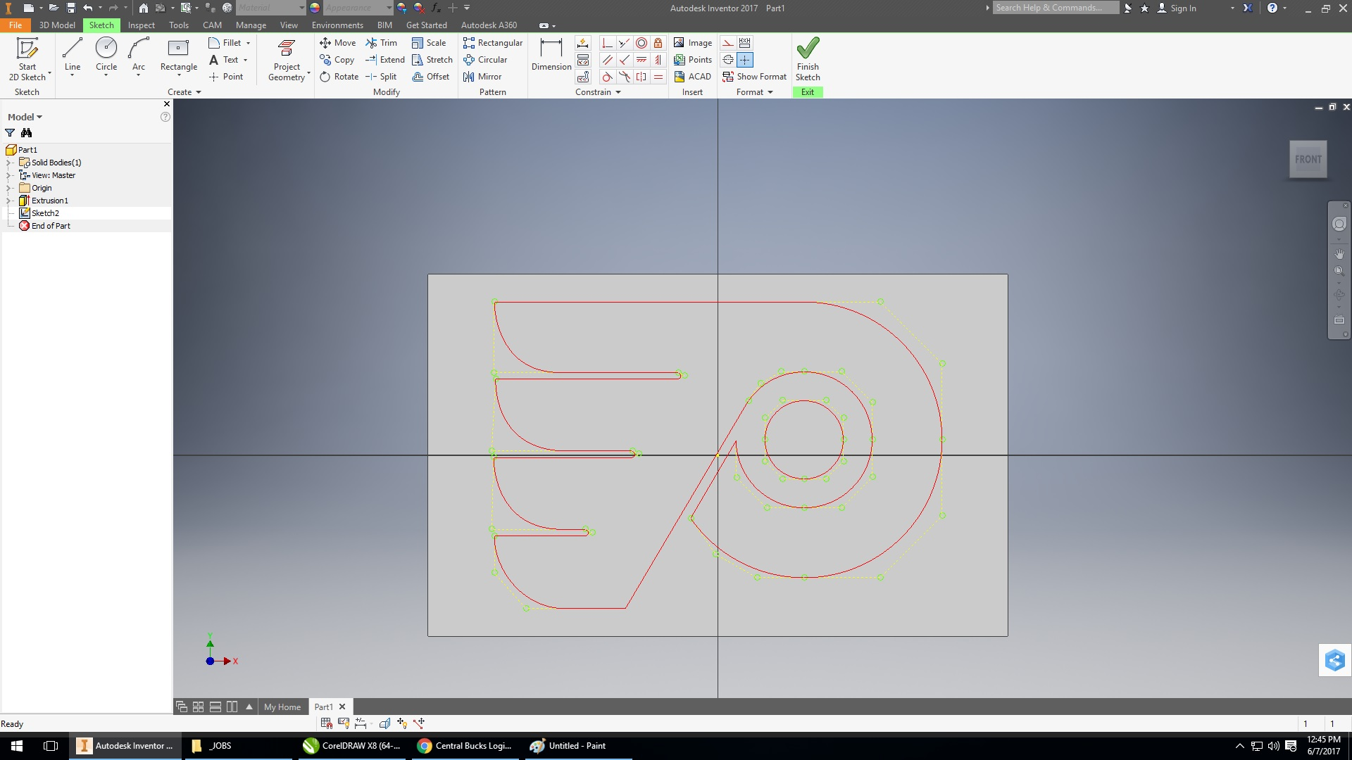 Drawing Lines In Coreldraw : Corel draw to inventor autodesk community