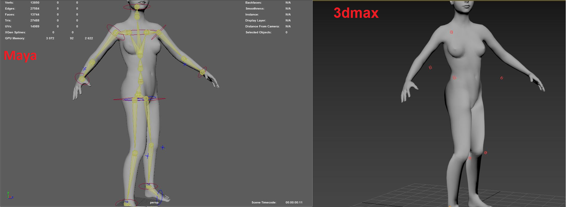 Solved: Human Ik _ Maya Send to max not work - Autodesk