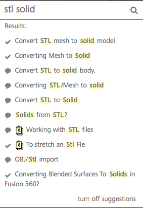 Converting STL/Mesh to solid - Autodesk Community- Fusion 360