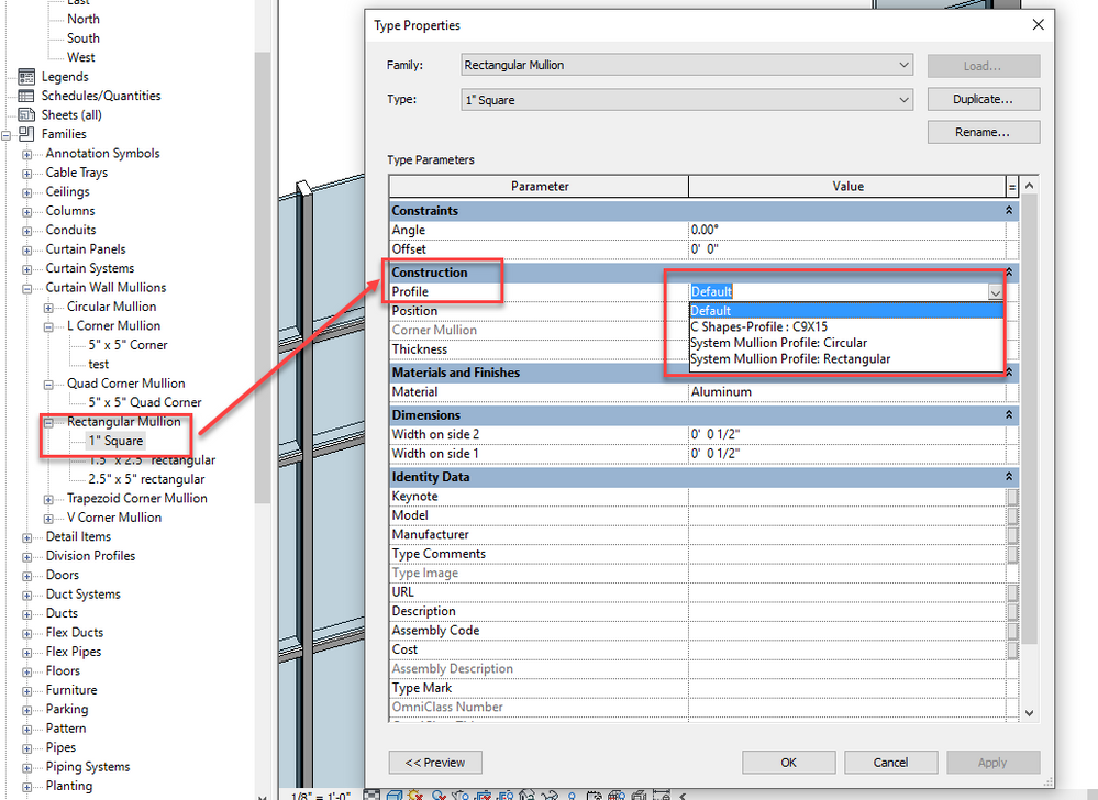 Solved: Corner Mullion Profile and Details - Autodesk