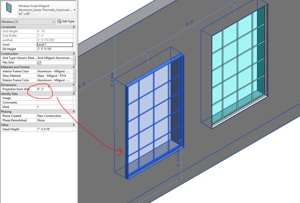 Solved: Help creating an exterior offset in window family