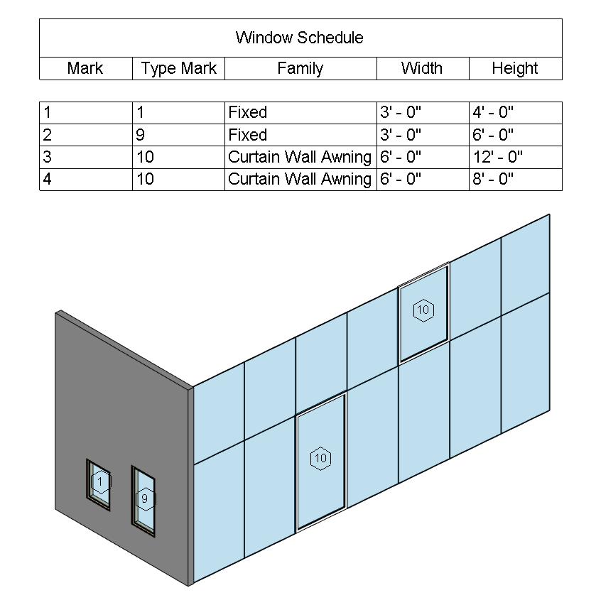 Window & Curtain Walling Schedule