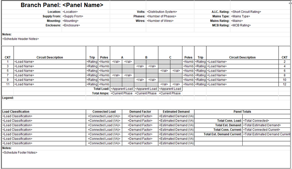 png panel schedule templatepng