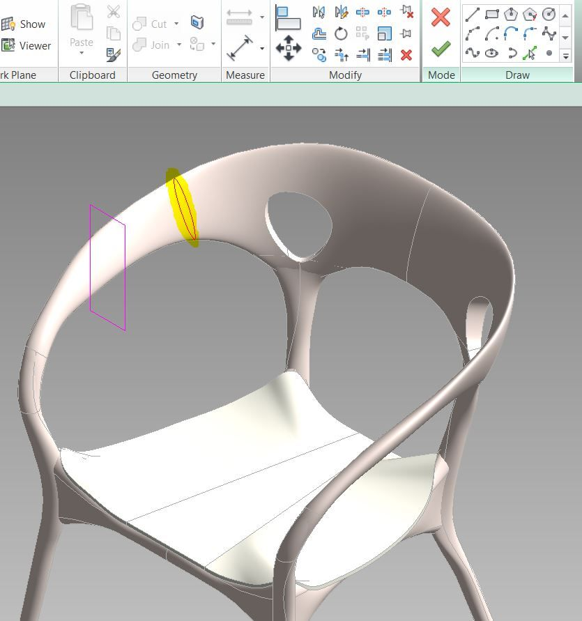 Solved: How do I build this type of chair in revit