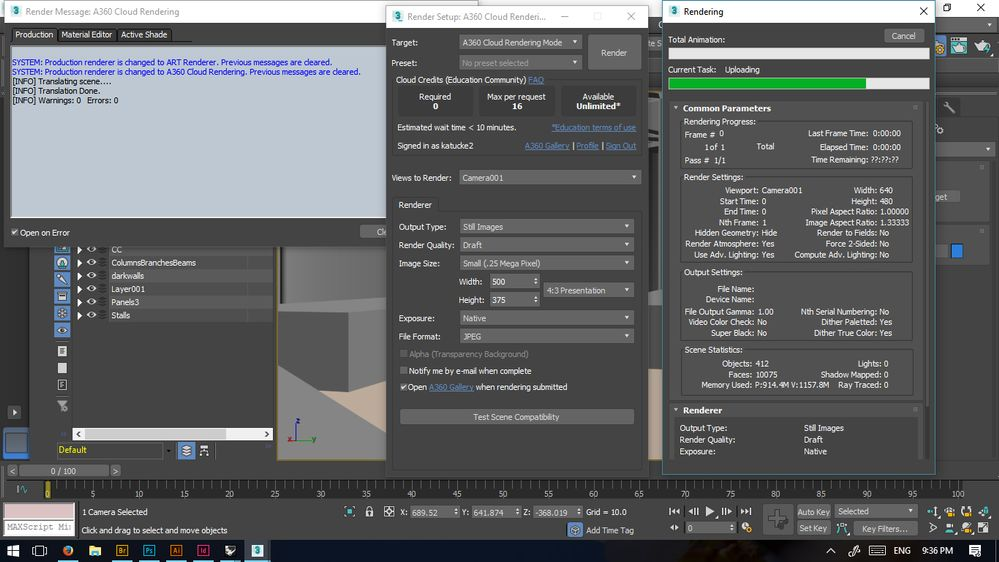 A360 Error from 3DS Max - Autodesk Community- Rendering