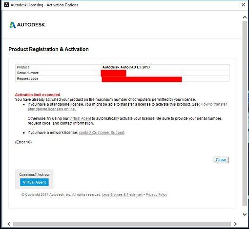 Can't activate AutoCAD LT 2013 - Autodesk Community
