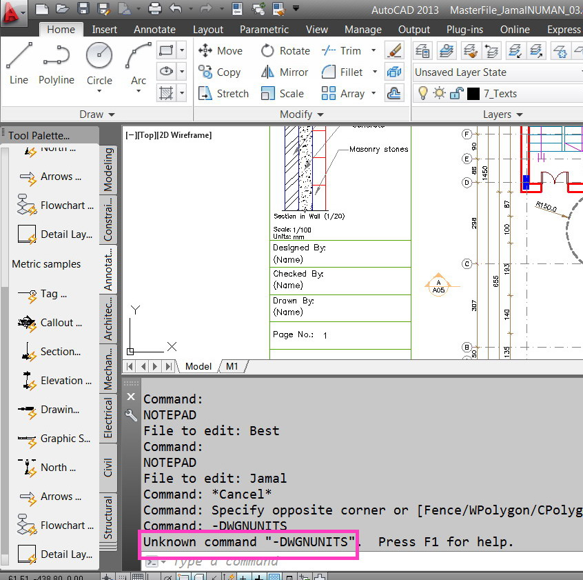 how to change autocad file from imperial to metric