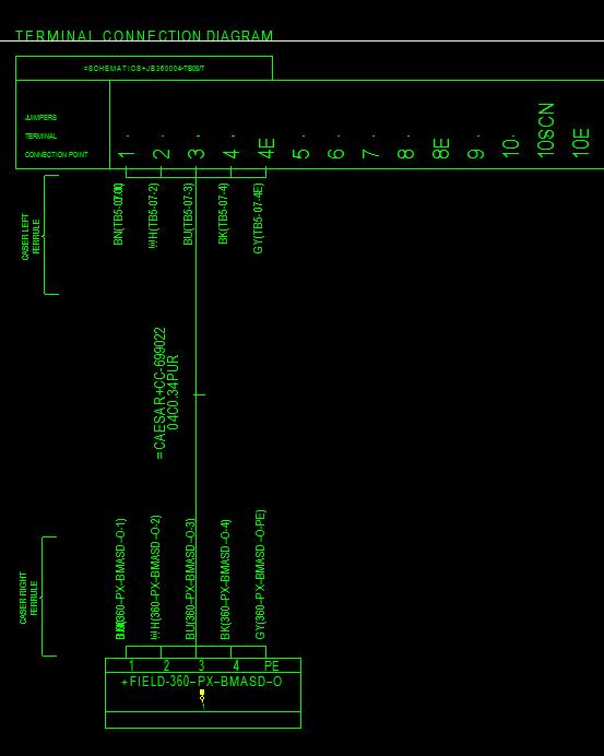 Termination Drawing  Diagram