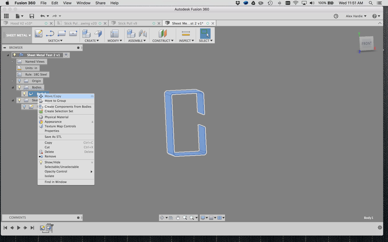 Solved: copy body in sheet metal - Autodesk Community