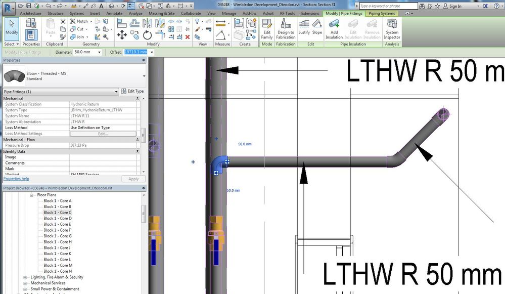 Pipe Fittings: change 45 degrees elbows - Autodesk Community