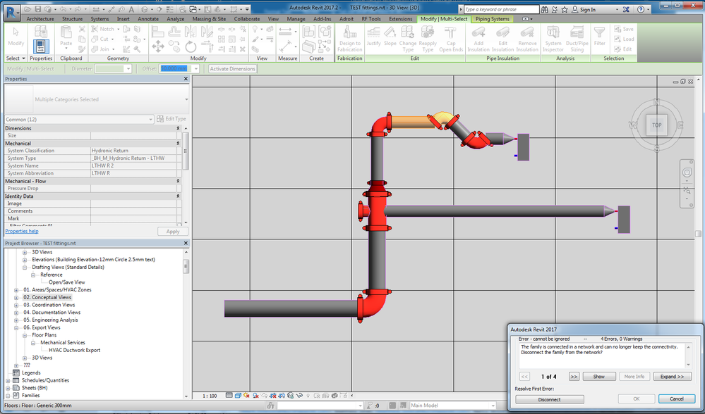 Pipe Fittings: change 45 degrees elbows - Autodesk Community- Revit