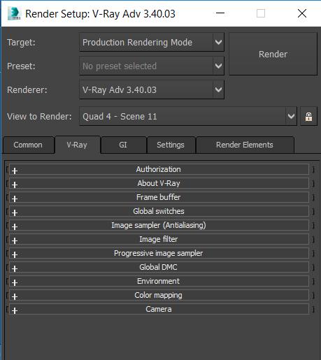 Solved: No Indirect Illumination menu on the vray render