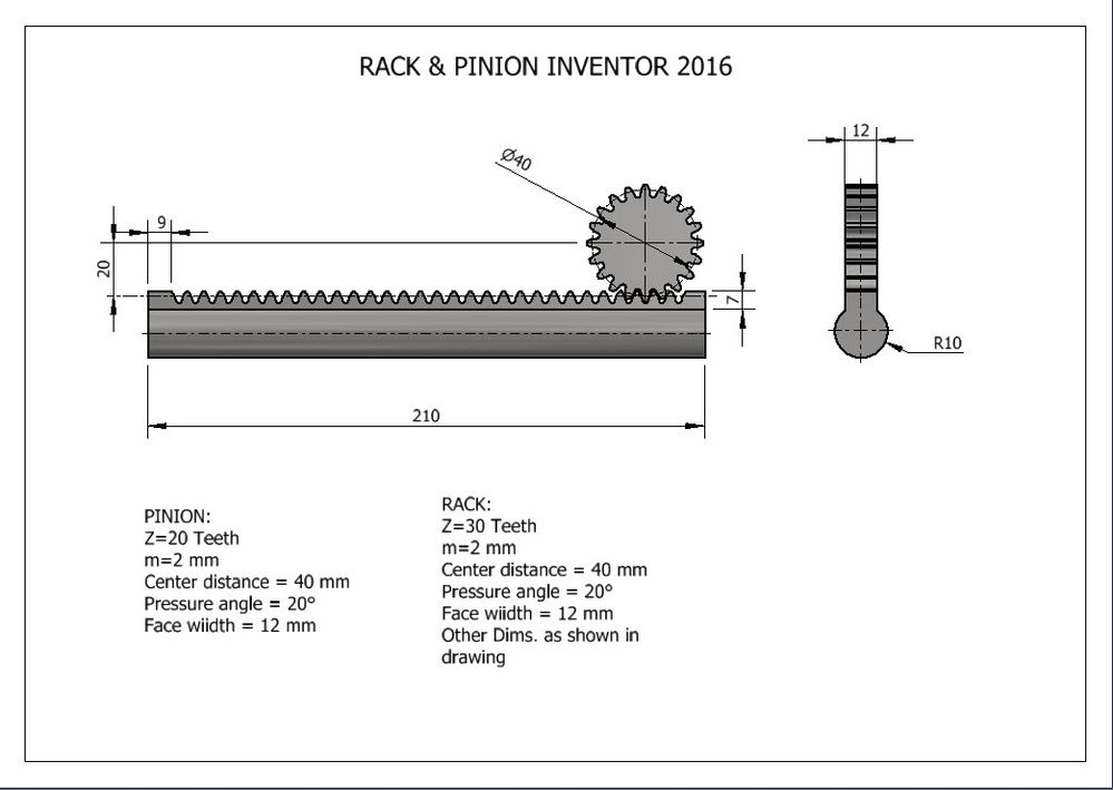 How to create Rack & Pinion using Inventor 2016 - Autodesk Community
