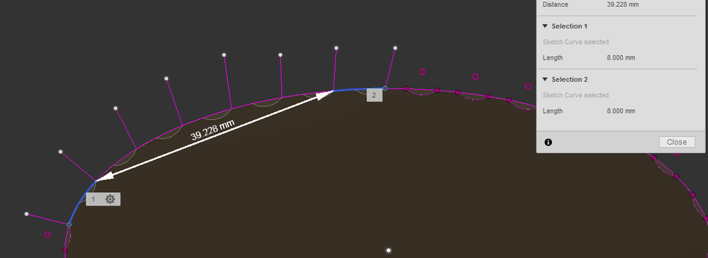 Solved: Bevels around ellipse - pattern on path variances