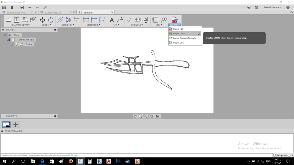 Export design to Corel Draw to a laser engraver      - Autodesk