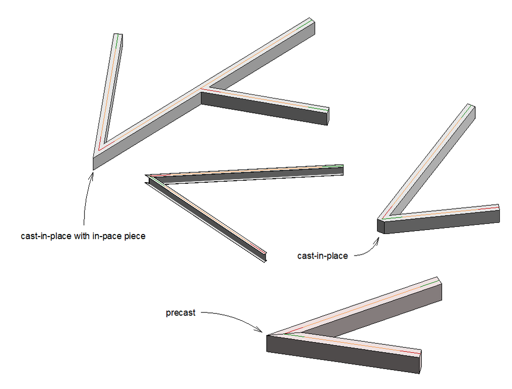 Cast In Place Joint : Solved concrete beam corner join autodesk community