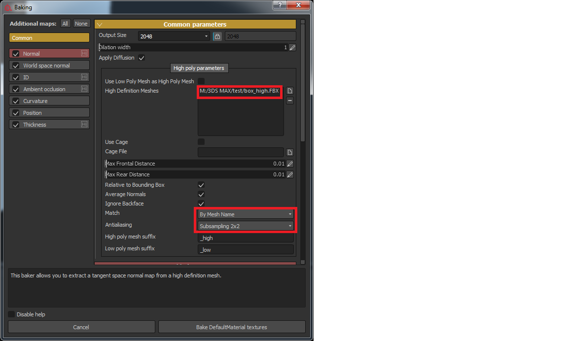How to import _high to Substance Painter 2? - Autodesk Community