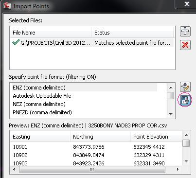 Point File Formats list order - Autodesk Community- Civil 3D