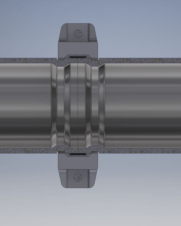 Victaulic coupling pipe grooving in tube and