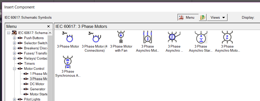 Solved: Three phase motor symbol with six terminals