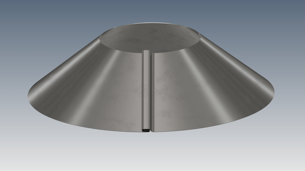 Solved Grooved Seam On Sheet Metal Cone Autodesk Community